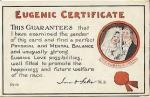 Eugenic Certificate