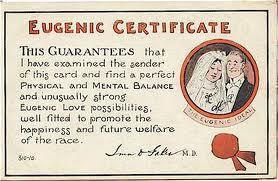 Eugenic Certificate