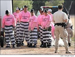 Sherif Apaio-Chain Gang Prisoners In Pink Shirts