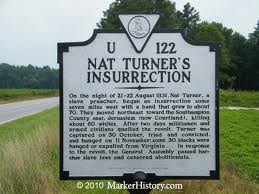 U122 Nat Turner Markerhistory